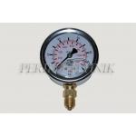 "Pressure Gauge DN63 0-100 bar, 1/4"" bottom fixing"