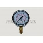 "Pressure Gauge DN63 0-250 bar, 1/4"" bottom fixing"
