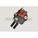 "Hydraulic valve 80L/min 2-section, Joystick control (P-A-B 1/2""; T 3/4"") (BADESTNOST)"