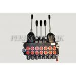 "Hydraulic Valve 40L/min 7-sections, 2x Joystick (A-B 3/8""; P-T 1/2"")"
