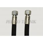 """Hydraulic hose BSP 3/8"""", DN10, 330 bar, 2,0 m"""