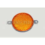 Reflector orange, round, 2 fixing holes FP-311