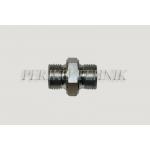 "DIN Male Stud Coupling M14x1,5 - BSPP Male 1/4"" male"