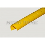 Hose spiral guard HDPE 27mm (27-32mm) yellow
