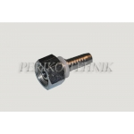 Straight female fitting M14x1,5 DN06 (socket 60°)