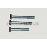 Hexagon head bolt M10x100 / Zn 8.8 DIN931