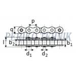 Rullpukskett 12A-1H (60H) 19,05 mm (METEOR)