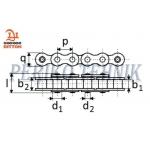 Rullpukskett 16A-1 25,4 mm (2 meetrit) (DITTON)