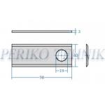 Rootorniiduki tera d=19 98x40x3 mm