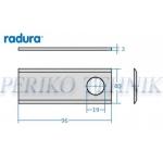 Rootorniiduki tera d=19 96x40x3 mm, Claas,Pöttinger,Fahr,Fella (RADURA)