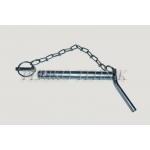 Lower Link Pin with Chain 22x130 mm (bended handle)