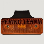 Ääretuli LED 12/24 V, oranz, helkuriga (KAMAR)