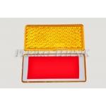 Reflektor kollane neljakandiline (46x96 mm) kleepsuga
