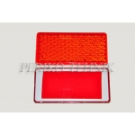 Reflector with Adhesive Tape (46x96 mm) Red