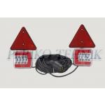 Tulede komplekt magnetiga 7,5+2,5 m, LED (25xLED, kolmnurgaga) (KAMAR)