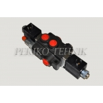 "Hydraulic Valve 50L/min 1-section (A-B 3/8""; P-T 1/2"") electrical, 12V (BADESTNOST)"