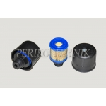 """Õhufilter SAP 54 mm, 1/2"""" väliskeere (pappfiltriga, nailonkorpus)"""