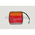 Rear Lamp 20xLED 12/24V, red/yellow, with number plate light