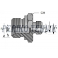 DIN Male Stud Coupling M22x1,5 - BSPP Male 1/2""