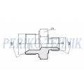 Reducing Metric Male Adapter M24x1,5 vk - M22x1,5 vk