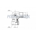 "90° Adapter Male BSPP - Swivel Female BSPP 1/4"""