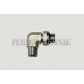 90° Adjustable Adapter Male BSPP 3/8""
