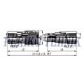 """Female Quick Coupling ISO-16028 10 FLAT, BSP 3/8"""" female thread"""