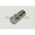 "Female Quick Coupling ISO-16028 10 FLAT, 1/2"" female thread"