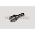 Straight male fitting with internal cone 24°, light series M16x1,5 - DN06
