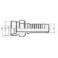 Straight male fitting with internal cone 24°, light series M16x1,5 - DN08