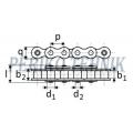 Rullpukskett 16B-1H (tugev 80H) 25,4 mm (KAHI)