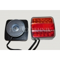 Rear Lamp Set with Magnetic Base 7,5+2,5 m, LED (14xLED, red/yellow lens) (KAMAR)
