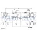Hüdrosilinder HY 92/80x40-800-1100